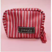 Quality pu leather fashionable cosmetic bag pouch with brand logo printed for sale