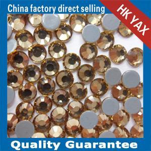 Quality China Manufacturer Lt.Topaz Rhinestone Flat Back for clothing,Flat Back Rhinestone for clothing YAX226 for sale