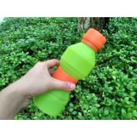 Quality 500ML FDA Approved Food Grade Silicone Water Bottle Unbreakable for sale