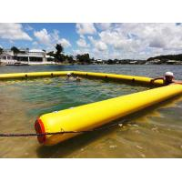 Buy cheap 6*4m  inflatable  boom swim pool  with HDPE mesh to keep you safe in the sea from Wholesalers