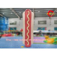 China Commercial Inflatable Model Hot Dog Shaped Durable 0.55 1000D Pvc Tarpaulin on sale