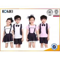 Quality Summer Lapel Embroidered School Uniform For Primary School Students for sale