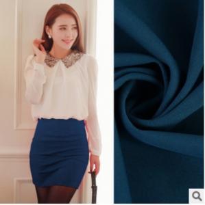 Polyester Spandex Dyeing Twisting Luoma Bu style Knitting Stretch fabric skirt fashion