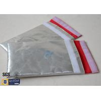 Quality Fireproof Bag Document Cash Envelope 1022℉ Silver Non Itchy Fiberglass Cloth for sale