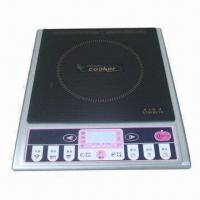 China Induction Cooker in One Zone with 1,800 to 2,000W Rated Power, Whole Black Glass on sale