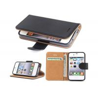 Quality Black Slim Apple iphone Leather Case For Apple iPhone 4 4.8*2.7*0.9 Inches for sale