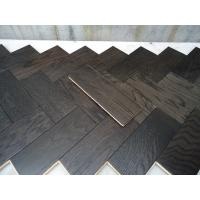 China White Oak Parquet Herringbone (stained wenge color) on sale