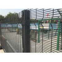 Quality Powder Coated Welded Wire Mesh Fence Panels For Prison With Square Hole for sale