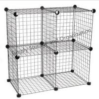 Quality DIY Grid Wire Modular Cube Cage Versatile Shelving Easy Assemble Custom Color for sale