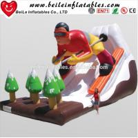 China Hot Sell Cool Sell Design Advertising Giant Inflatable Water Slide And Inflatable Slide For Adult For Sale on sale