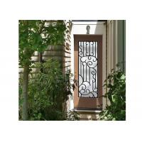 Buy cheap Distinctive Customization Wrought Iron Glass Door Inserts Excellent Climate Resistance from wholesalers