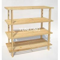 Quality 4 Layer Dark Espresso Shoes Wooden Display Stands For Bathroom for sale