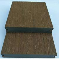 Quality 140X23 teakwood wooden texture wpc easy to clean hot sale popular to Europe wpc capped deck for sale