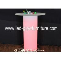 Quality Color changing LED Illuminated Table / Commercial Plastic Romantic LED Pillars Columns for sale