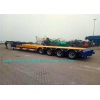 China Tri Axles 50 Tons SINOTRUCK Heavy Duty Low Bed Trailers For Machine Transport on sale