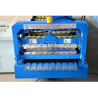 Quality Blue Color Roofing Sheets Manufacturing Machine , Roll Forming Line High Speed for sale