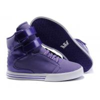 China Cheap Supra TK Society Women High Top Shoes Purple on sale