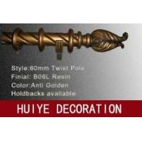 Buy Antique Gold Twist Pole ( Curtain Tracks / Curtain Rods ) at wholesale prices