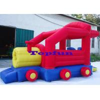 Quality Cheap Fabric 6.5m Inflatable Truck Commercial Bounce Houses For Family Use for sale