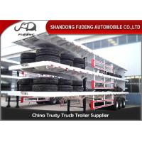 Quality 40ft container carry flatbed truck trailer Air suspension super single tire for Tanzania for sale