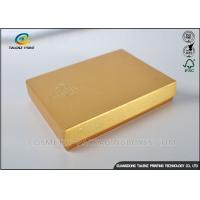 Quality Light Weight Chocolate Gift Boxes , Cardboard Boxes With Lids Golden Covering for sale