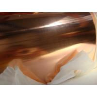 China Laminated T2 Copper Foil Roll / Copper Sheet Roll For Shielding Braided RF Cable on sale