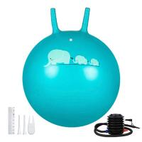 Quality Kids PVC Space Hopper Ball Inflatable Toy Yoga Ball With Handle SGS Certificate for sale