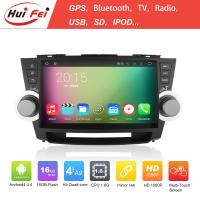 Quality quad core huifei car dvd car radio gps navigation for highlander 10.1 inch 3g wifi bt obd for sale