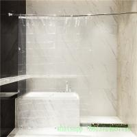 Quality A004 clear waterproof 10 guage peva shower curtain with grommet magnet for sale