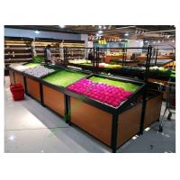 Quality 1 layer  Metal Wooden Display Rack For Grocery Shop , 2 Years Warranty for sale