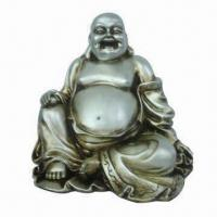 Quality Polyresin Sitting Happy Buddha Statue, Made of Resin for sale
