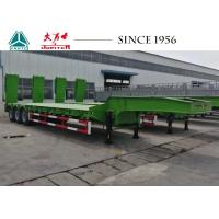 China 3 Axles 50 Ton Lowboy Trailer , Low Bed Truck Trailer With Hydraulic Ramp on sale