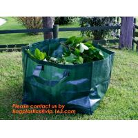 Quality 260L PP fabric leaf waste bags/garden bag waste/garden refuse sack,self standing plastic yard,lawn and leaf bags / reusa for sale