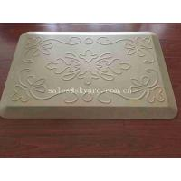 Quality White Relief Pressure Standing Kitchen Padded Floor Mats OEM Logo Kitchen Mat for sale