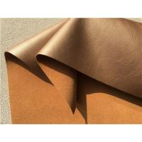 Quality Decoration Brown Bonded Leather Fabric 35 Meters Each Roll For Hotel , Indoor for sale