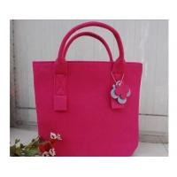Quality New fashion top selling women felt leisurebag/shopping bag/handbag for sale
