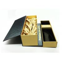 Sgs Glass Bottle Packaging Wine Gift Box With Round Or Customized