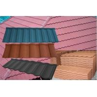 Galvanized Colour Steel Roof Tiles Corrosion Resistant , Blue red Metal Roofing Materials