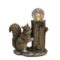 Buy cheap Classical Squirrel Welcome Garden Solar Light , Animal Solar Lights Outdoor With Glass Ball from Wholesalers