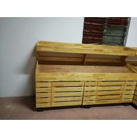 Quality 2 Layers Promotion Supermarket Display Stands Wood Storage Shelves Banana Display Rack for sale