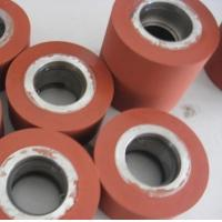 Quality Custom 40 shore a hardness laminating rubber silicone roller for sale