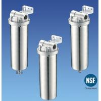 China Drinking Water Filter Cartridge Housing Stainless Steel , High Pressure on sale