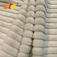 China Decorative Polyester Jacquard Fake Fur For Garments / Car Seat Cover 150CM Width on sale