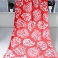 Quality Seashell Linen Beach Towels / 100% Combed Cotton Bath Towel For Silver Wamsutta for sale