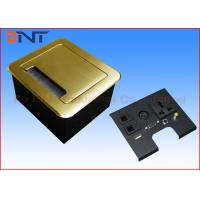 Quality Gold Tabletop Flip Up Power Outlet , Compact Manual Conference Table Power Outlets for sale