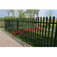 China 2.4m Height Steel Palisade Fencing With Powder Coating Finished Surface on sale