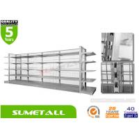 China Economical Convenience Store Display Racks With Metal Infill Back Panel L1000 X D450 X H1800mm on sale