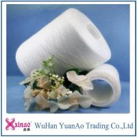 Quality 40/2 42/2 45/2 RW 100% polyester spun yarns , glazed sewing machine thread AAA quality for sale