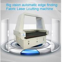 Quality Big Vision Automatic Edge Finding Laser Cutting Machine for digital printed sublimation textile fabrics for sale