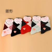 China 2015 Fashion classic christmas patterned design thick winter AZO-free wool socks for women on sale